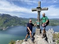 Gipfelsieg auf 894 Meter Höhe
