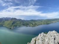 Wunderschönes Panorama mit Traunstein und Traunsee