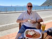 2021 05 22 Kos Erstes Frühstück in diesem Urlaub perfekt am Strand in Kamari