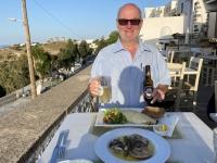 2021 05 24 Patmos Abendessen Crepes mit Huhn und Muscheln