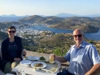 2021 05 24 Patmos Abendessen mit tollem Ausblick