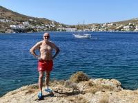 2021 05 24 Patmos Petra Strand mit Blick auf Grikos