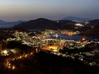 2021 05 24 Patmos wunderschöner Blick auf das nächtliche Skala