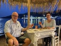 2021 05 25 Patmos auch heute wieder perfekter Platz zum Abendessen