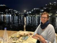 2021 05 26 Leros Fischrestaurant Mylos mit Mondaufgang