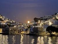 2021 05 26 Leros Mondaufgang während Abendessen