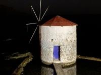 2021 05 26 Leros Windmühle bei Nacht