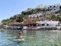 2021 05 27 Leros Baden in Pandeli mit Hotel Castelo Beach