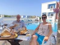 2021 05 27 Leros erstes Frühstück im Hotel