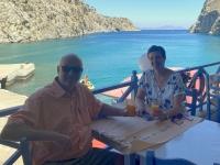 2021 05 29 Kalymnos Rina Mittagessen im Hafenrestaurant