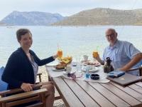 2021 05 30 Kalymnos Perfektes Frühstück am Strand von Emborios