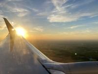 2021 06 01 Sonnenuntergang im Flugzeug