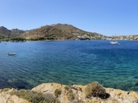 2021 05 24 Patmos Blick auf Grikos hinüber
