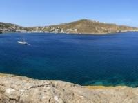 2021 05 24 Patmos Felsen Kallikatsou am Petra Strand mit wunderschönem Ausblick