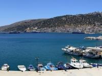 2021 05 29 Kalymnos Abfahrt vom Pothia zur Inselrundfahrt