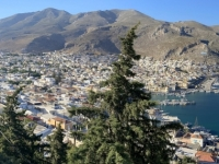 2021 05 29 Kalymnos Blick auf Pothia mit Hinterland