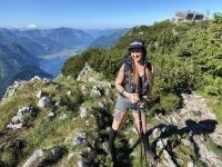 Michaela vor ihrem Ziel dem Traunsteinhaus