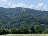 Fahrt Richtung Wurzenhütte mit Blick auf Grünberg