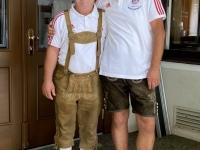 Werner mit Fanclub Obmann Hannes