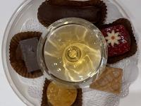 Dessert Cognac und Petit fours