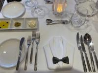 Gala Abendessen Tischgedeck