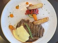 HS Rip Ey Steak mit Ofengemüse