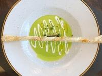 Suppe Spargelsuppe mit Blätterteigröllchen