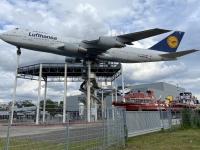 2021 08 05 Speyer Technik Museum von außen Boing aufgebaut