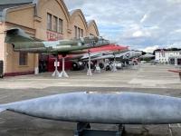 2021 08 05 Speyer Technik Museum von außen viele Jets