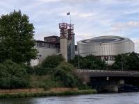 2021 08 06 Strassburg Europäischer Gerichtshof vom Boot aus