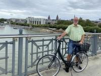 2021 08 07 Mainz Mit dem Fahrrad über die Rheinbrücke