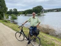 2021 08 07 Mainz Zusammenfluss Main in den Rhein