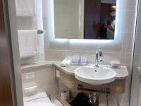 Normale Kabine Bad und WC
