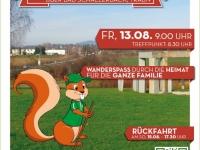 2021 08 13 Jahnwanderung nach Leonding Plakat