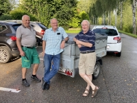 Team des Gepäcktransportes Fritz Hachtl Sepperl