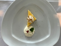 Dessert Zitronenkuchen Baiser