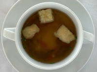 Suppe Rinderbouillon Kaiserschöberl