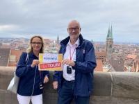 2021 08 24 Nürnberg Blick von Burg Reisewelt on Tour mit Kollegin Dagmar