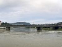 2021 08 26 Linz Nibelungenbrücke vom Schiff aus