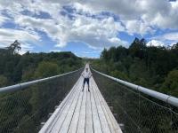 Schwingt ganz schön diese Brücke