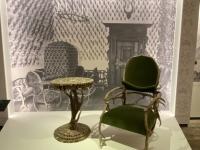 Geweihmöbel aus dem Besitz von Anna und Josef von Lamberg aus Schloss Trautenfels