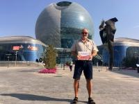 2017 08 27 Astana EXPO größte selbsttragende Kugel der Welt Reisewelt on Tour