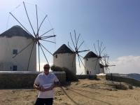 2017 10 07 Mykonos berühmte Windräder Reisewelt on Tour