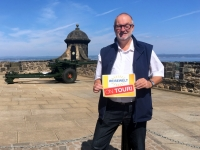 2018 05 19 Edinburgh Castle mit 1 Uhr Kanone Reisewelt on Tour
