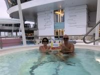 2019 01 24 Seetag Mein Schiff 2 Whirlpool bei minus 2 Grad Aussentemperatur Foto 1