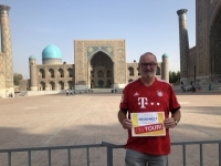 2019 09 29 Samarkand Registanplatz Reisewelt on Tour