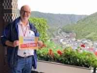 2020 08 22 Cochem Reichsburg Blick auf die Stadt  Reisewelt on Tour
