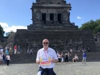 2020 08 22 Koblenz Deutsches Eck mit Kaiser Wilhelm Denkmal Reisewelt on Tour