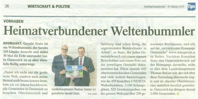 2019 11 08 TIPS Grieskirchen Weltenbummler mit LH Stelzer