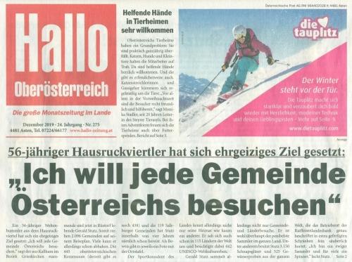 2019 12 01 Hallo OÖ Ortstafelbericht Titelseite